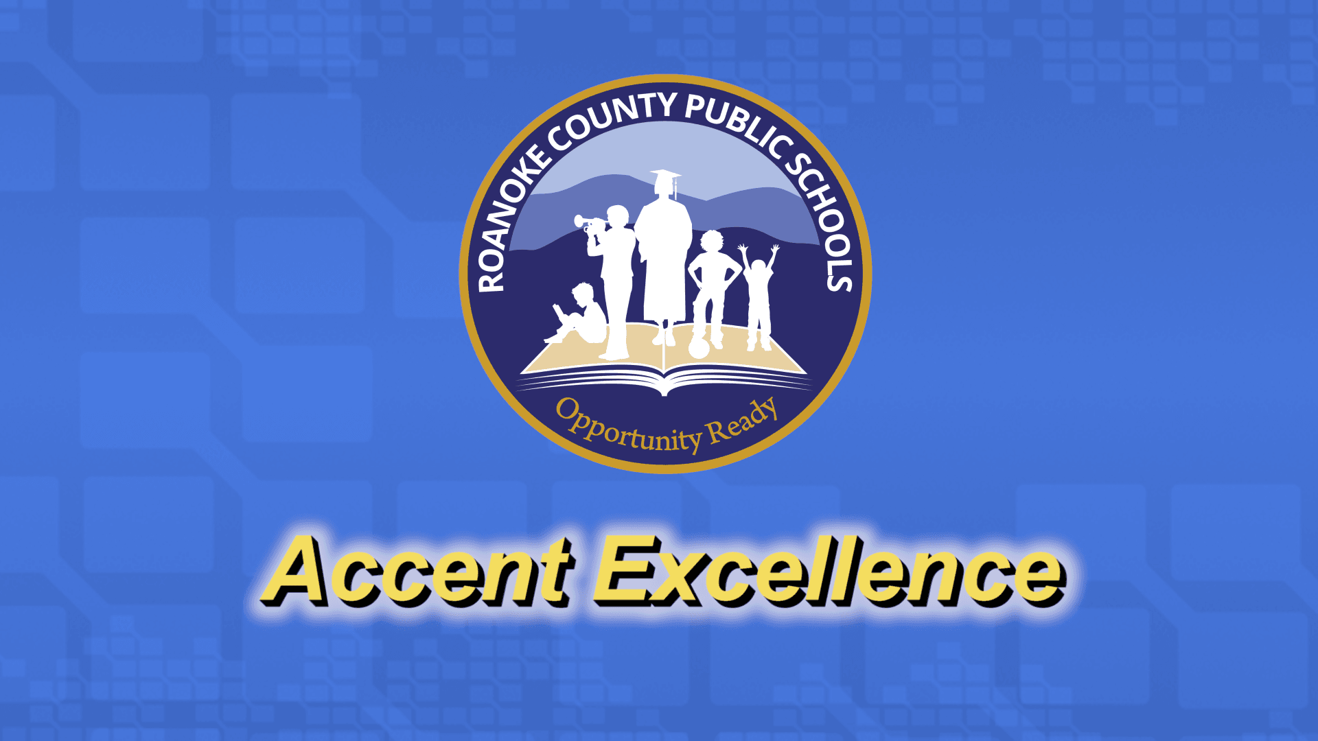 Roanoke County Public Schools Logo, Accent Excellence